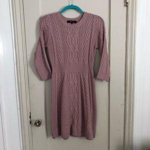 Sweater Dress, Dusty Pink Purple